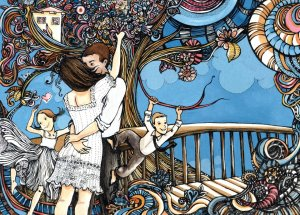Mi familia, por la gran artista, mi gran amiga Andrea Lertora