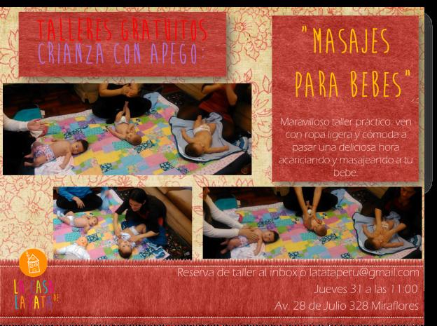 Taller práctico de Masajes para Bebes