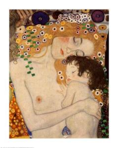 madre-e-hijo- Gustav Klimt