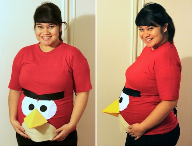Angry-Birds-pregnant-Halloween-costume